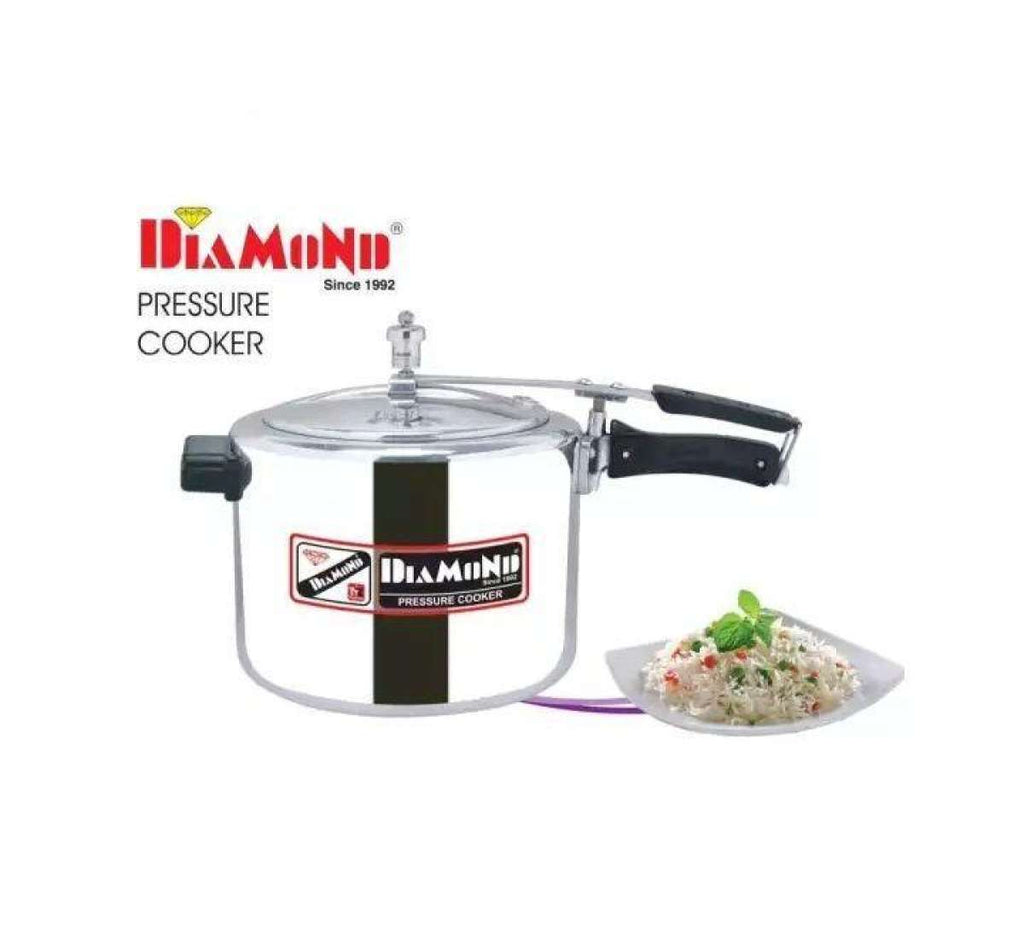 Diamond Hard Anodized Pressure Cooker With Free Rubber And Scrubber – 3.0 Liters