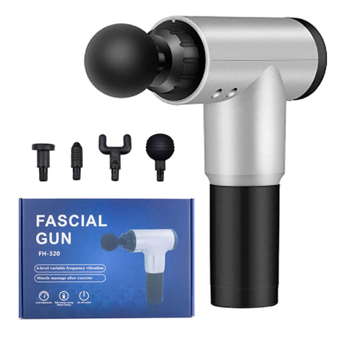 Fascia Gun 7.4V Muscle Massage Gun Deep Tissue Massager Physiotherapy Gun,6-Gears/Level Variable Frequency Vibrations, Exercising Pain Relief Body Massager Muscle Recovery Fascia Gun