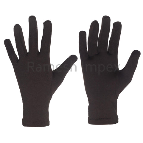 Unisex Skinny Gloves Fleece Gloves - Black