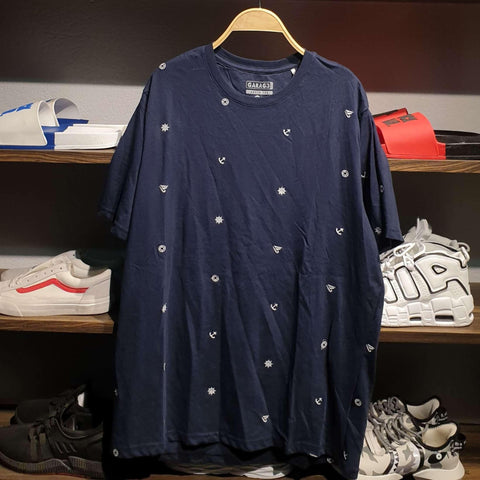 Blue Pattern Summer T-Shirt For Men