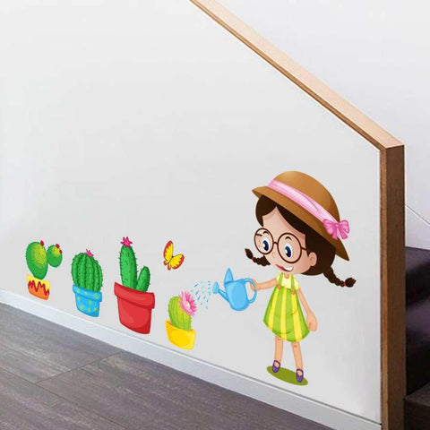 Creative Decoration Cartoon 3D Flower Wall Sticker