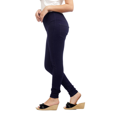 Women's Dark Wash Skinny Fit High Waist Denim Pant by Attire Nepal