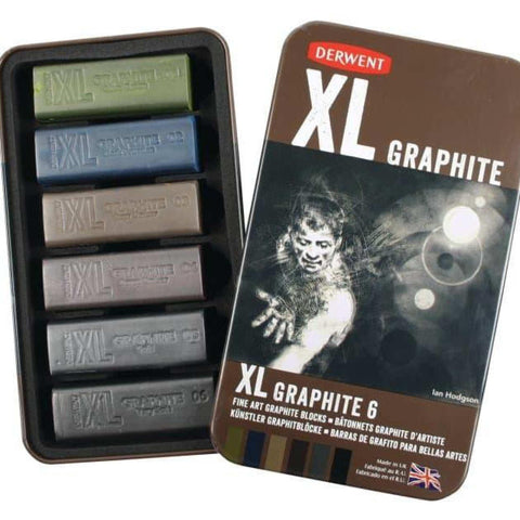 Derwent Xl Graphite Blocks Multicolor Set Of 6 price in Nepal