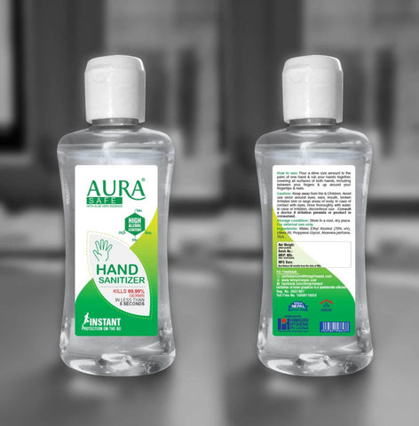 Aura Safe Hand Sanitizer - 75 ML price in nepal