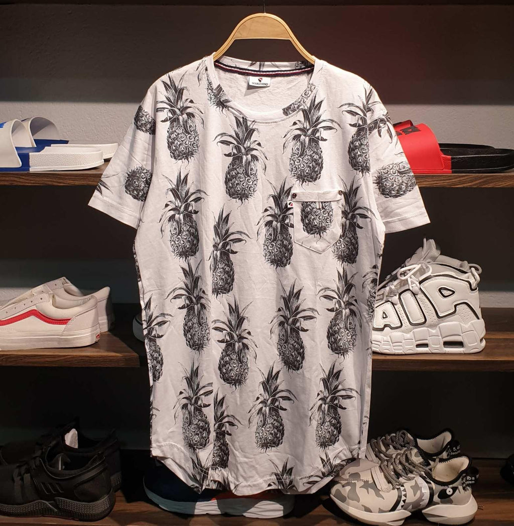 Floral Leaves Pattern Summer T-Shirt For Men
