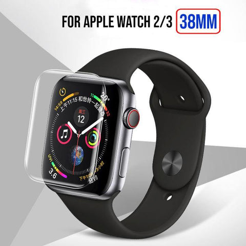 Full Size Anti-Explosion Soft Tpu Screen Guard Film For Apple Watch 2/3 -38Mm