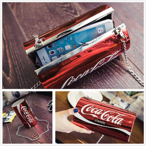 Red Coke Can Clutch Bag For Women price in Nepal