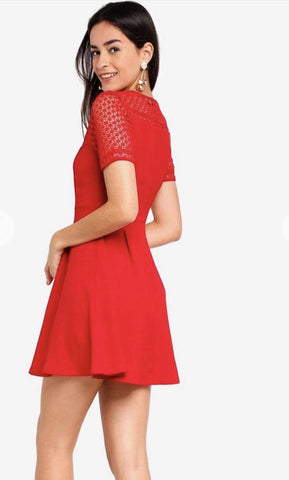 Zalora Fit & Flare lace Dress