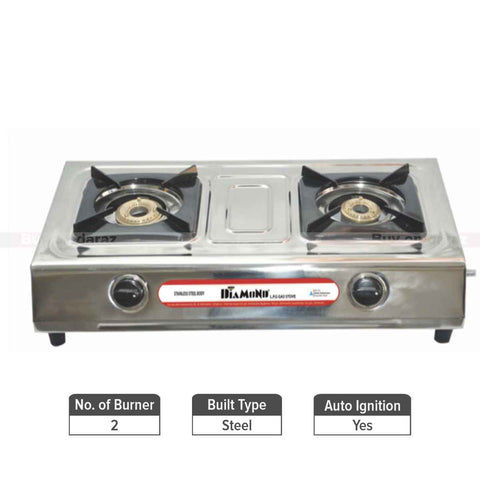 Diamond Commander Steel Non-Automatic Gas Stove