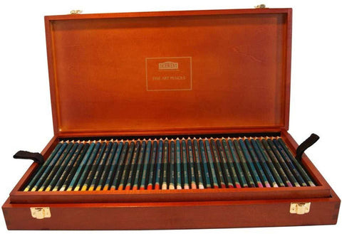 Derwent Artists Blendable Colour Pencil in Wooden Box - Set of 120 price in Nepal