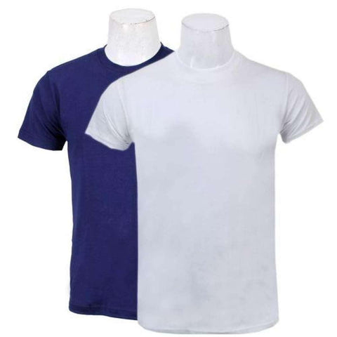 Shangrila Pack Of Two Solid T-Shirt For Men