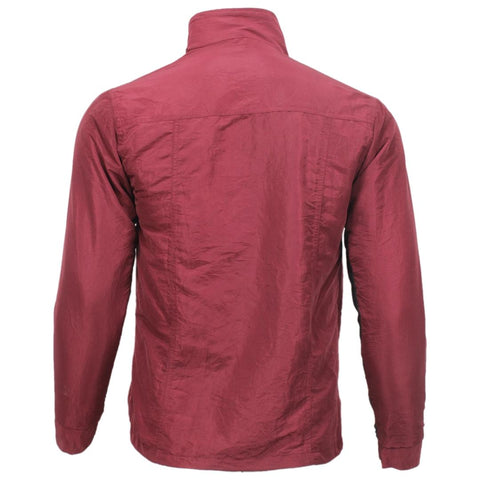 Maroon Taffeta Solid Windcheater For Men