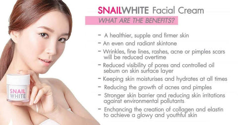 Snail White Seven Girl Face Whitening Cream Redouble Whitening Crack Nourishing 50g /By ShopHill