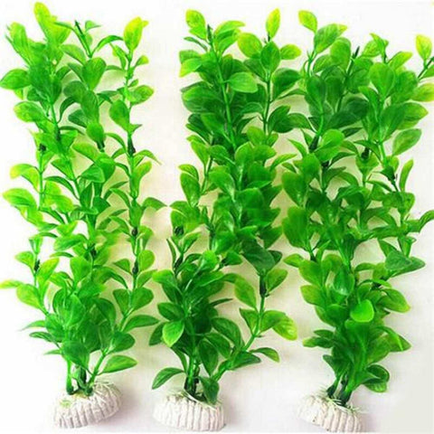 Ornament Artificial Green Plant Grass Fish Tank Aquarium Fake Plastic Decor price in Nepal