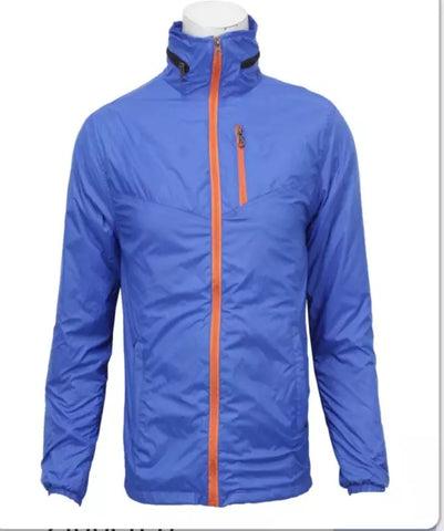 Royal Blue Taffeta Front Zippered Windcheater For Men price in nepal