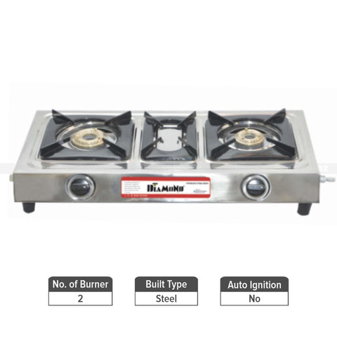 Diamond Beta Steel Non-Automatic Gas Stove