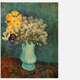 Van Gogh Vase With Lilacs Daisies And Anemone Poster Print Wall Stickers price in Nepal