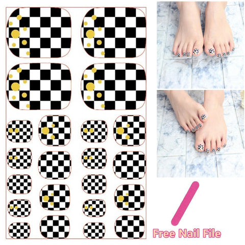 Multiple Colour Design Nail Art Sticker Self Adhesive Toe Decals price in Nepal