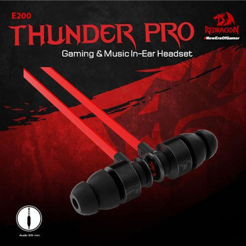 Redragon THUNDER PRO E200 Gaming & Music Earbuds