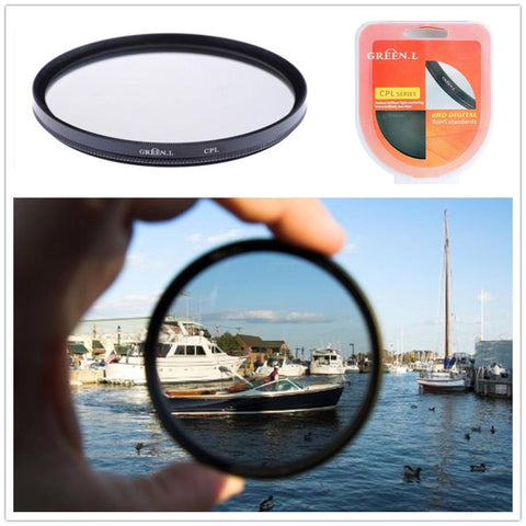 35001117 49mm/43mm/46mm/52mm/55mm CPL Circular Polarizer Filter Lens Protector For DSLR Camera