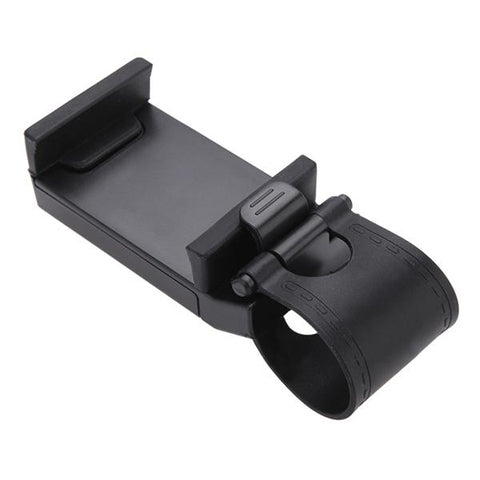 Black Car Steering Wheel Phone Socket Holder