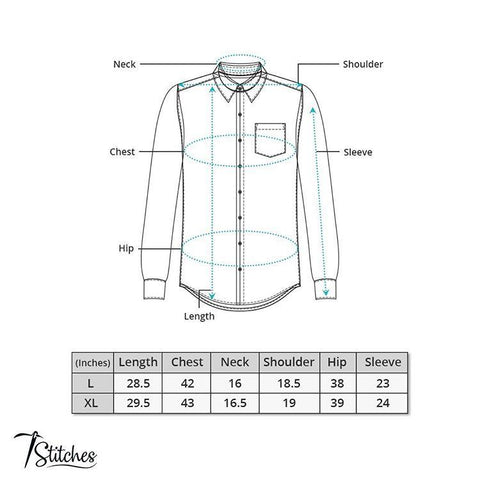 Lighe Blue Pattern Cotton Shirt For Men