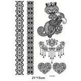Henna Design Tattoo Body Arm Waterproof Temporary Tattoo Sticker