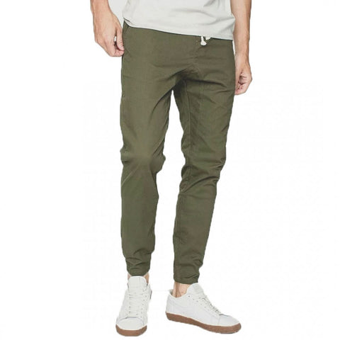 Army Green Stretchable Cargo Jogger For Men