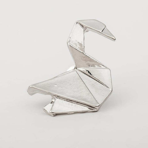 Geometric Swan Pattern Alloy Brooch For Women