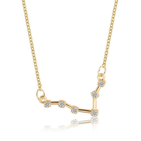 Gold Toned Sagittarius Twelve Constellation Pattern Zodiac Sign Necklace For Women price in Nepal
