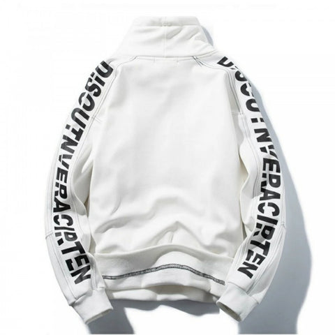 All White Over Size Fleece Inside Sweat Shirt