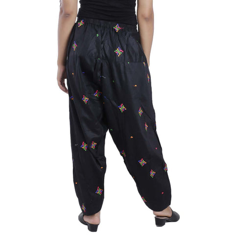 Black Chikan Panjabi Shalwar For Women