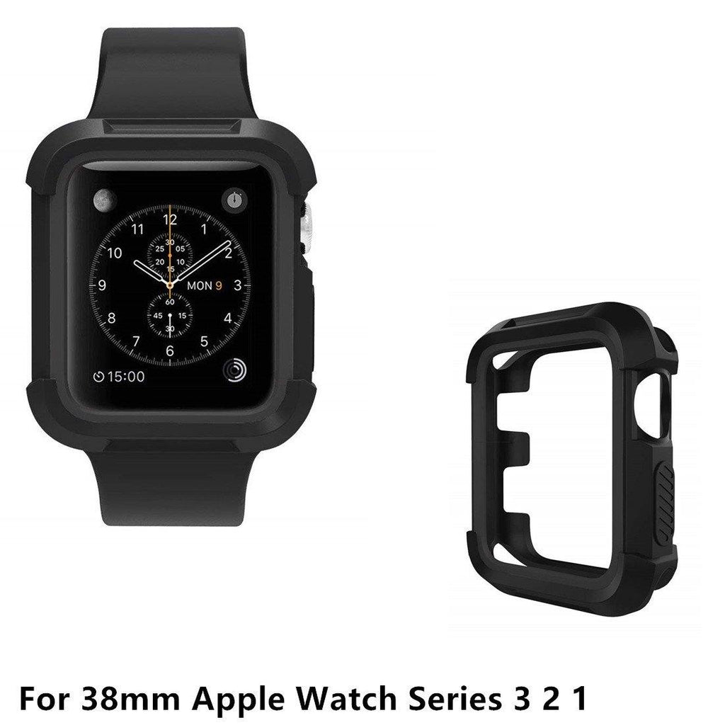 14001254 Rugged Shock Proof iwatch Bumper Scratch Case for 42mm Apple Watch Series 3 2 1 Green