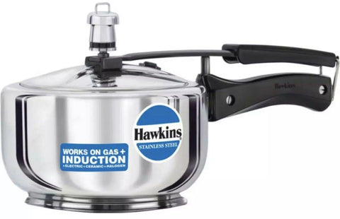 Hawkins Stainless Steel Pressure Cooker Wide (HSS3W)- 3 Litre