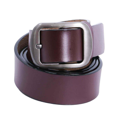 Combo Of 2 Maroon Solid Belt For Men Price in Nepal