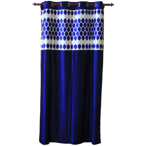 Abstract Pattern Cotton Fabric Window/Door Curtain - (Maroon/Blue) price in nepal