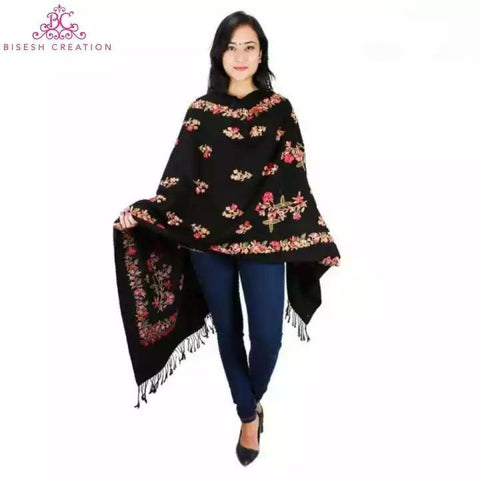 Bisesh Creation Semi Jaal Embroidery Kashmiri Shawl