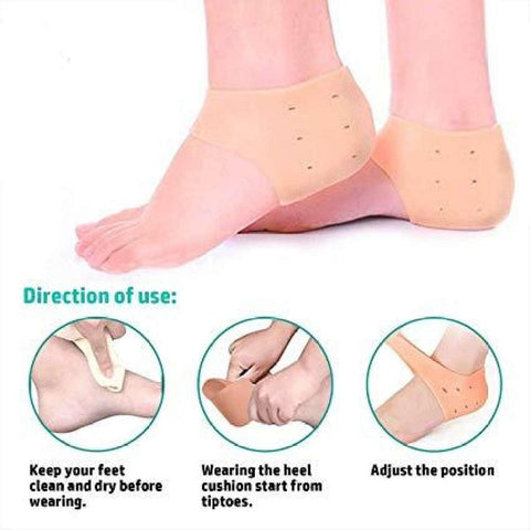 Silicone Gel Heel Protector Pain Relief Anti-Cracking price in Nepal