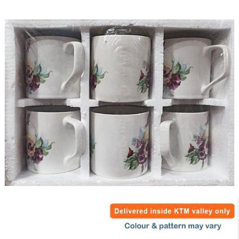 Set of 6 Ceramic Coffee, Tea Mug Set price in nepal