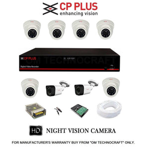 Cp Plus 8 Hd Cctv Cameras And 8Ch Hd Dvr Kit With 1Tb Hard Disk + All Accessories price in nepal