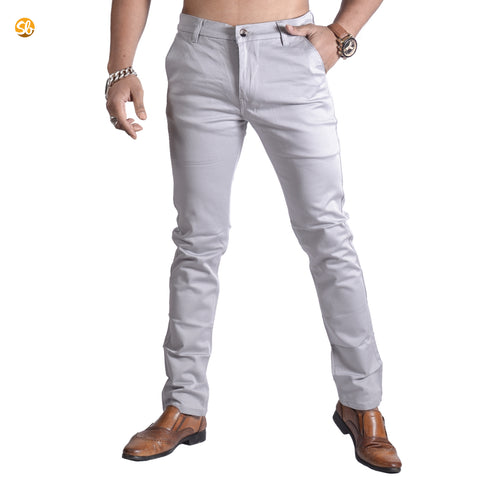 Grey chinos skinny fit cotton pant for men price in nepal