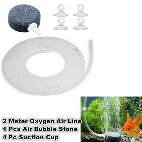 2 Meter Silicone Oxygen Air Line Air Bubble Disk Stone Suction Cup Set For Aquarium price in Nepal