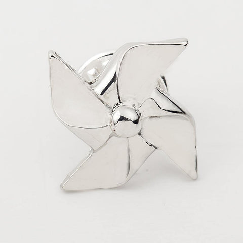 Geometric Windmill Pattern Alloy Brooch For Women