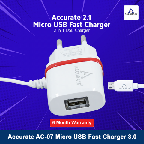 Accurate 3.0 Micro USB Fast Charger AC 07