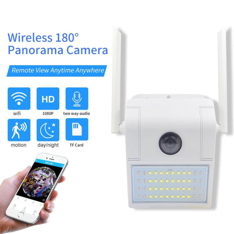 Smart 1080P Waterproof Wall Lamp Ip Camera 180° Panoramic Night Vision Detection Smart Baby Sleeping Monitor  price in nepal