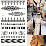 Henna Design Tattoo Body Arm Waterproof Temporary Tatto Stickers price in Nepal