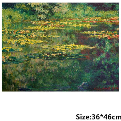 Van Gogh The Pond Nympheas Design Old Styleposter Print Wall Stickers