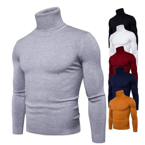 Spring Autumn New Solid Colors Pull Homme Turtleneck Sweater Dress High Elasticity Slim Pullover Men Knitwear Men Clothing 3Xl By Bajrang price in nepal