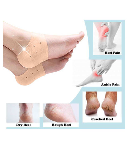 Anti Crack Full Length Silicone Foot Protector Moisturizing Socks for Foot-Care and Heel Cracks For Summer  price in nepal