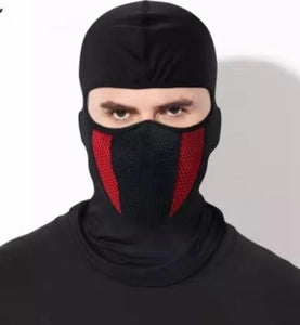 Black/Red Air Filter Full Ninja Mask